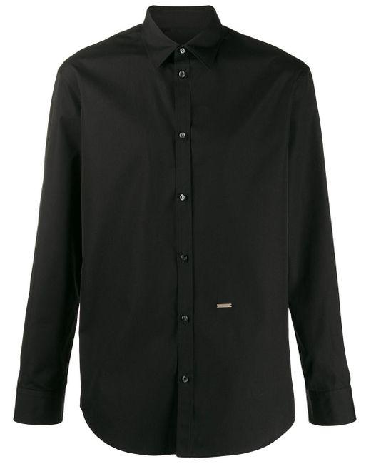 Рубашка На Пуговицах DSquared² для него, цвет: Black