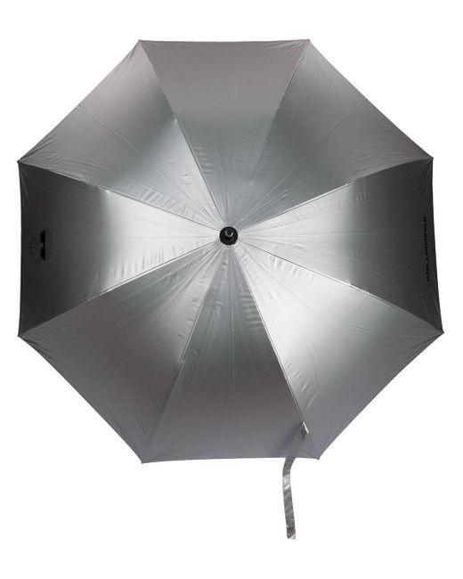 Зонт K/ikonik С Логотипом Karl Lagerfeld, цвет: Metallic