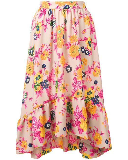 MSGM フローラル スカート Multicolor