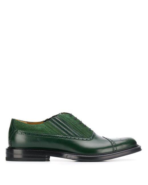 Броги На Шнуровке Gucci для него, цвет: Green