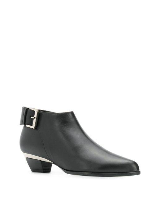 N°21 アンクルバックル ブーツ Black