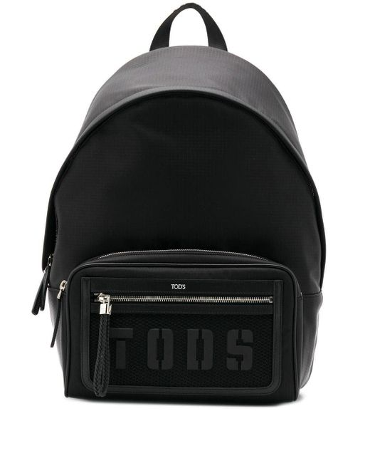 メンズ Tod's ロゴ バックパック Black