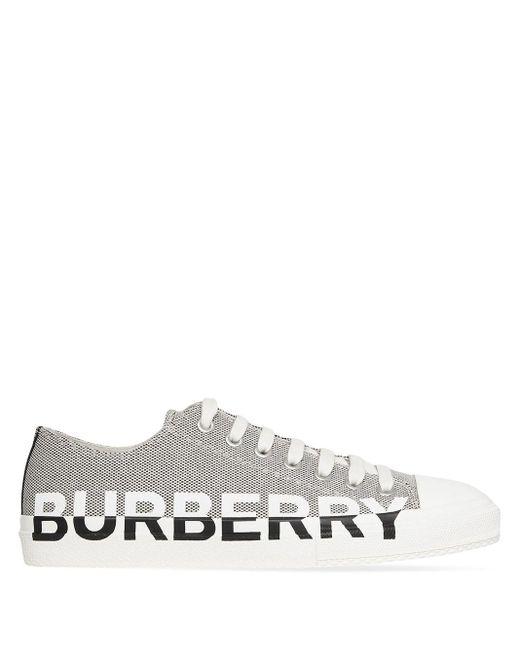 メンズ Burberry レースアップ スニーカー Multicolor