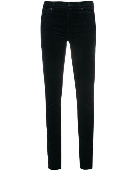7 For All Mankind Slim-fitted Trousers Black