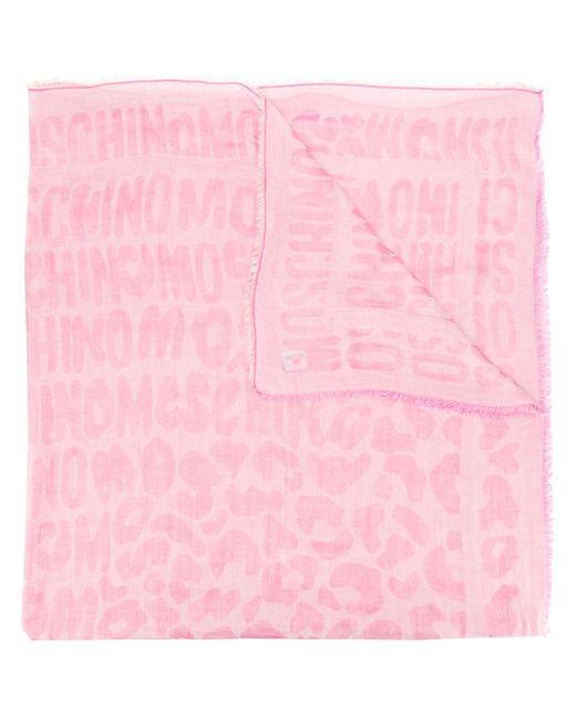 Moschino レオパード スカーフ Pink