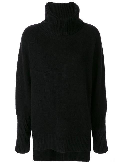 Venroy カシミア タートルネック セーター Black