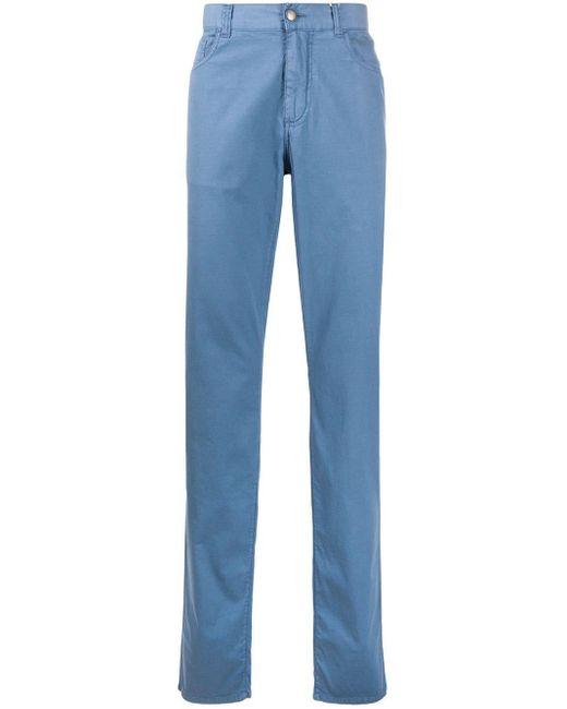 メンズ Canali ストレートパンツ Blue