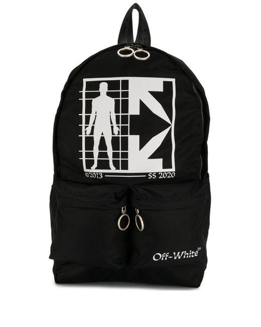 Рюкзак С Логотипом Off-White c/o Virgil Abloh для него, цвет: Black