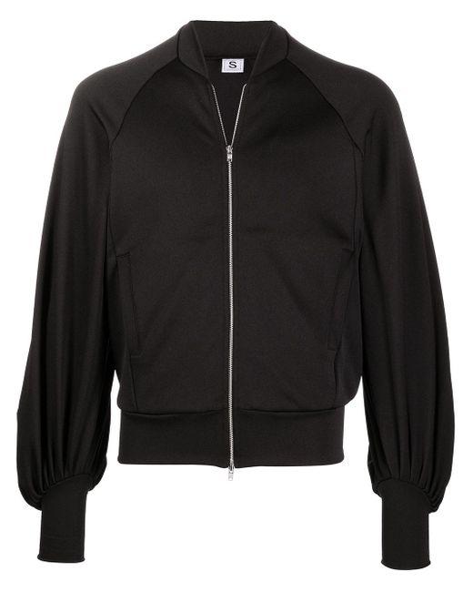 メンズ Random Identities オーバーサイズ ボンバージャケット Black