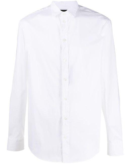 Рубашка На Пуговицах Emporio Armani для него, цвет: White