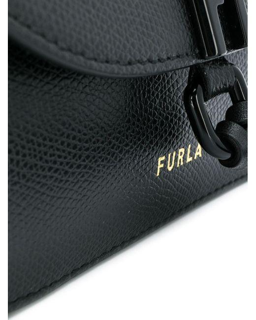 Sac à bandoulière à design enveloppe Furla en coloris Black