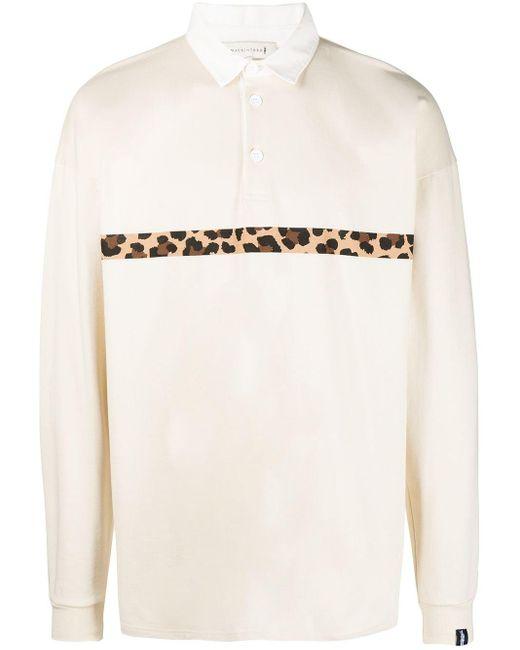 メンズ Mackintosh サイドストライプ ラガーシャツ White