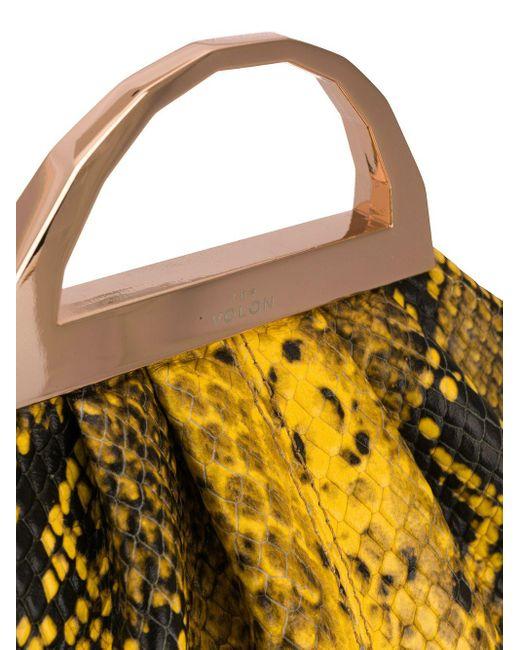 The Volon スネークスキンパターン ハンドバッグ Multicolor