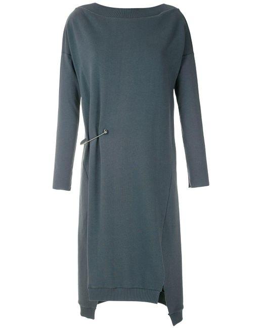 UMA | Raquel Davidowicz Brunei セーフティピン ドレス Gray