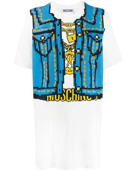 Moschino プリント Tシャツドレス Blue