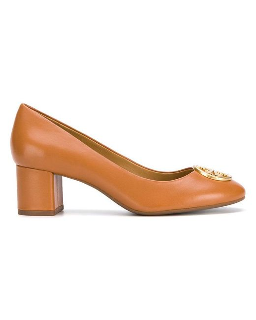 Tory Burch - Brown Embellished Pumps - Lyst