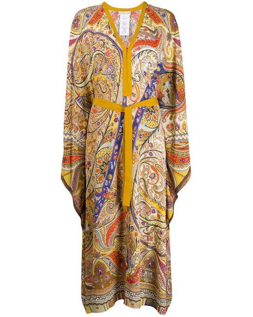Etro ペイズリー ドレス Yellow
