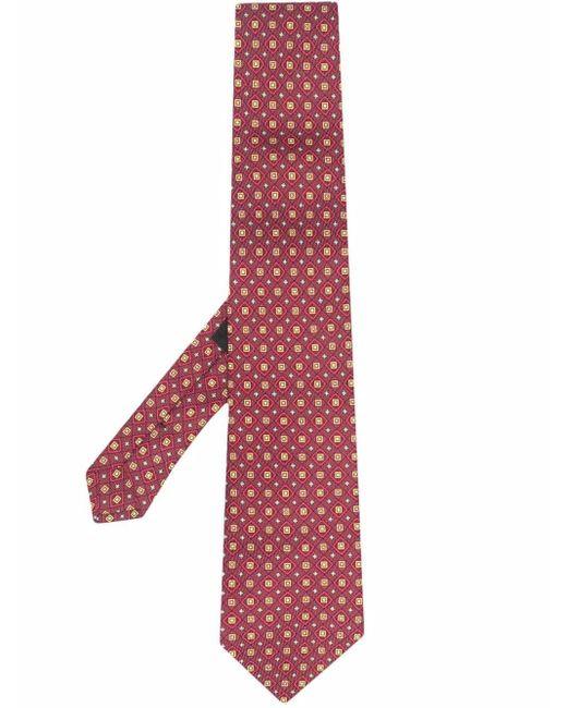 Галстук С Геометричным Принтом Etro для него, цвет: Red