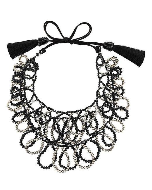 Night Market | Black Beaded Loop Necklace | Lyst