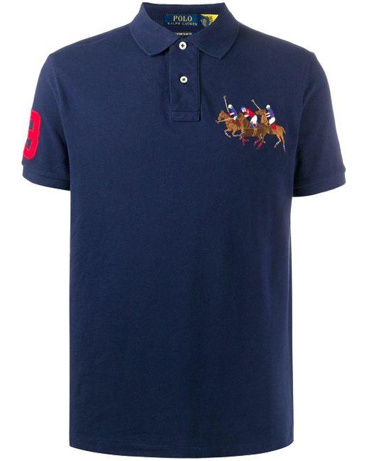 メンズ Polo Ralph Lauren エンブロイダリー ポロシャツ Blue