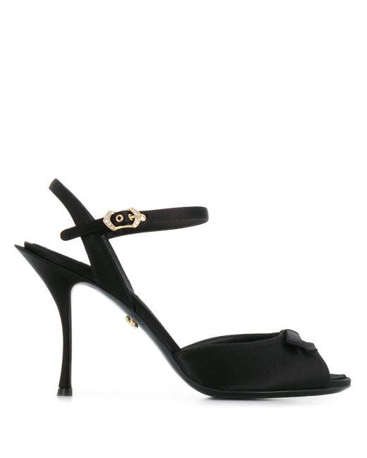 Dolce & Gabbana ピープトゥ サンダル Black