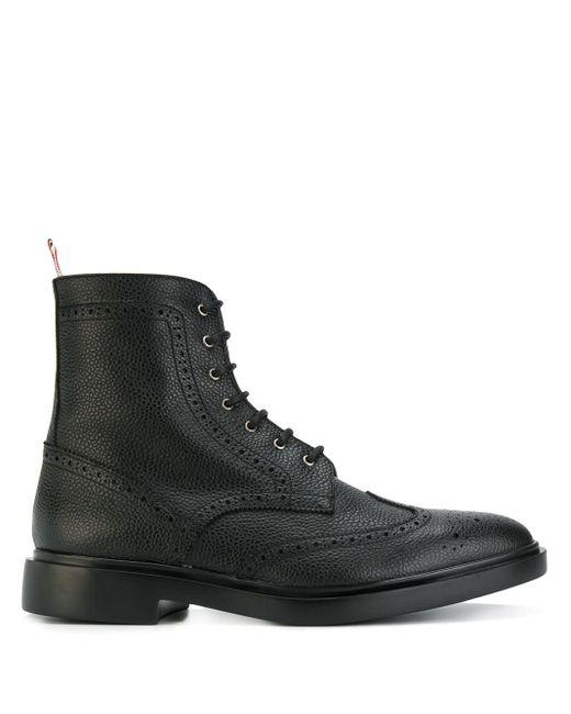 Ботинки 'wingtip ' Thom Browne для него, цвет: Black