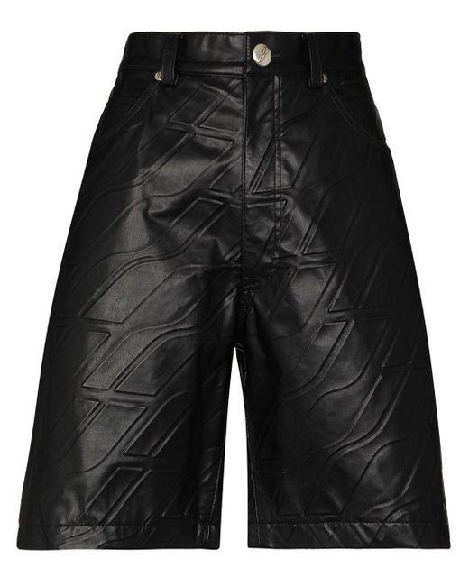 we11done エンボスロゴ ショートパンツ Black