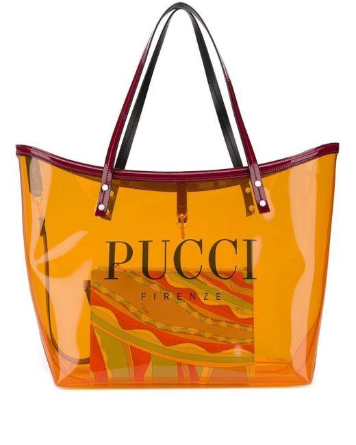 Emilio Pucci ロゴ ハンドバッグ Orange