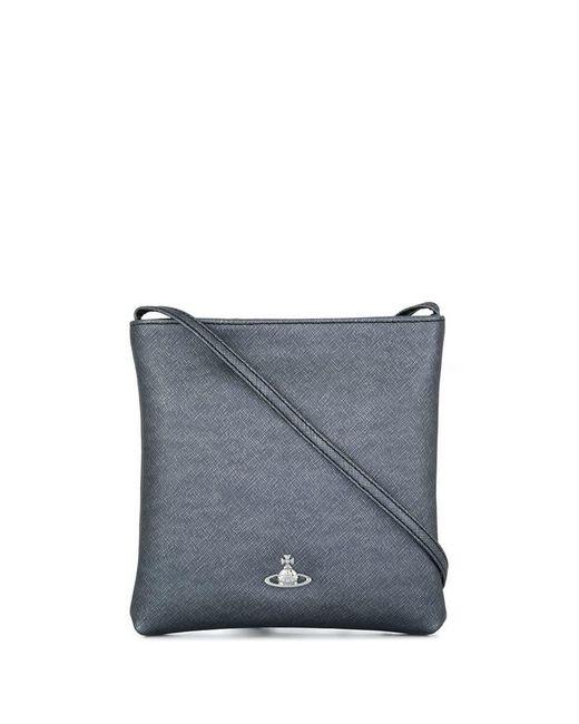 7c000f4e361d Vivienne Westwood - Gray Crosshatch Textured Crossbody Bag - Lyst ...