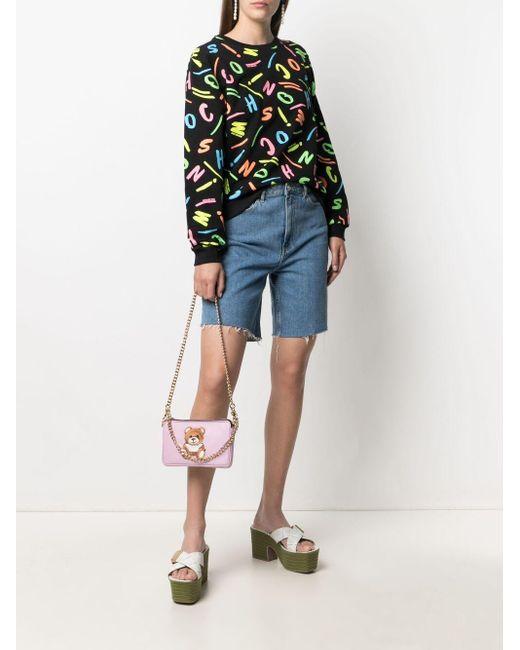 Moschino マルチロゴ スウェットシャツ Multicolor