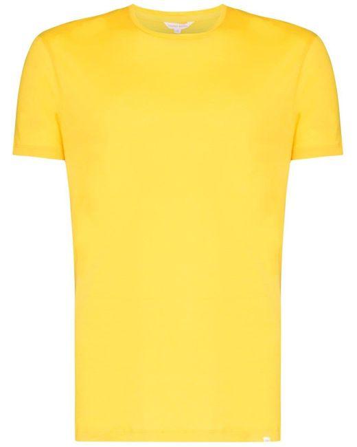 メンズ Orlebar Brown ラウンドネック Tシャツ Yellow