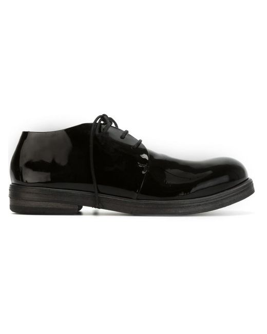 Marsèll - Black Lace-Up Patent-Leather Derby Shoes - Lyst