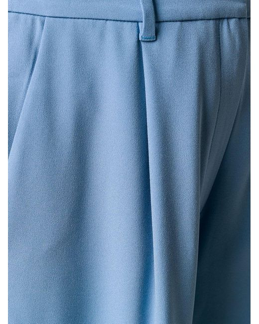 KENZO プリーツ ワイドパンツ Blue