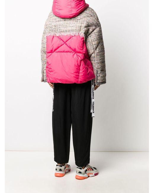 Khrisjoy パネル パデッドジャケット Pink