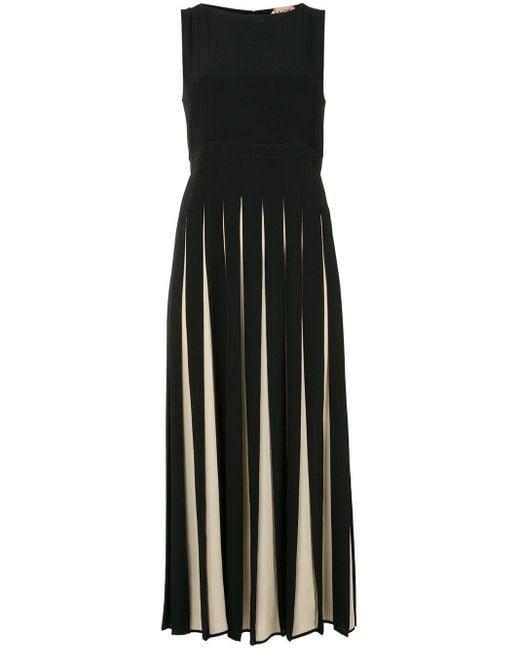 N°21 プリーツ ドレス Black