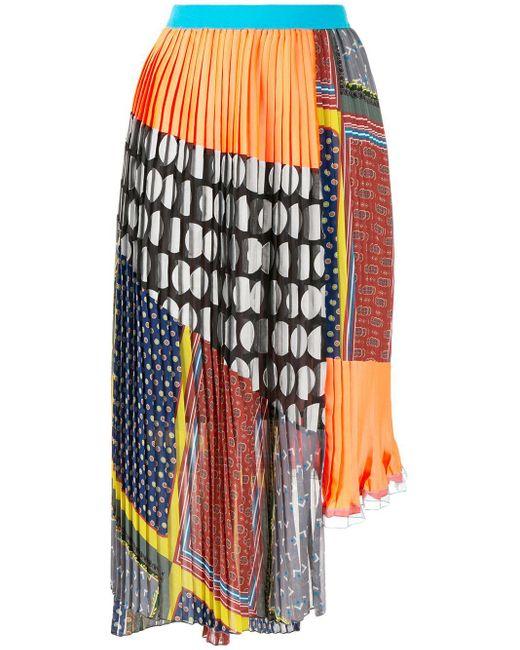 Kolor パターン プリーツスカート Multicolor