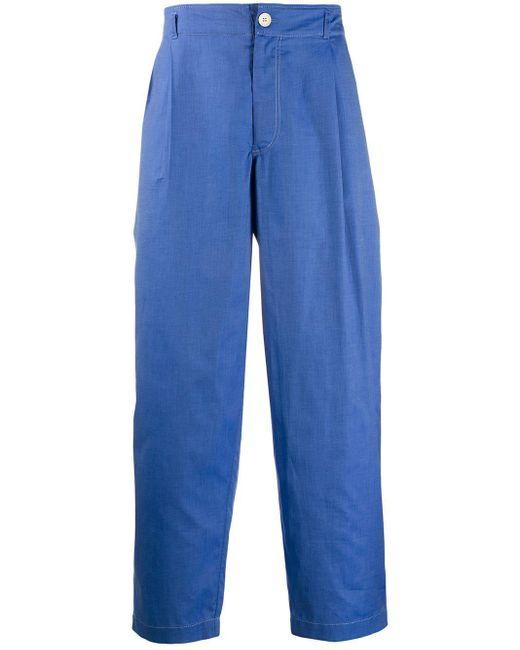メンズ Comme des Garçons ルーズフィット パンツ Blue