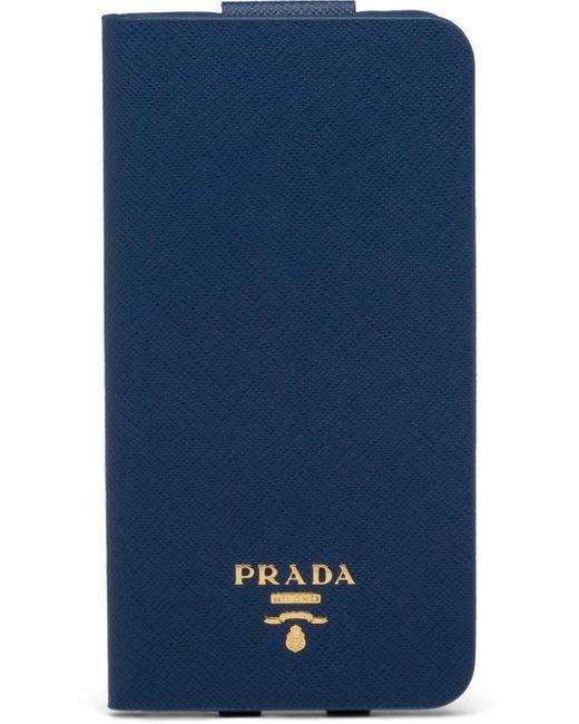 Prada サフィアーノ Iphone Xs Max ケース Blue