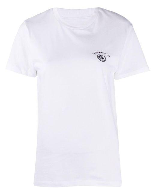 Carhartt WIP ロゴ Tシャツ White