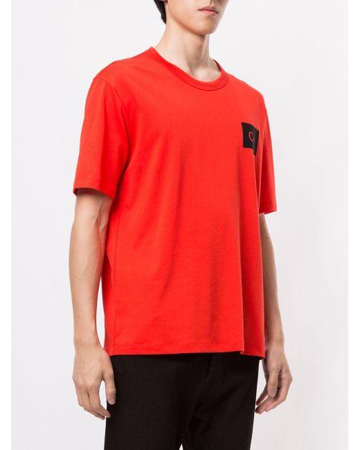 メンズ Calvin Klein ロゴ Tシャツ Orange