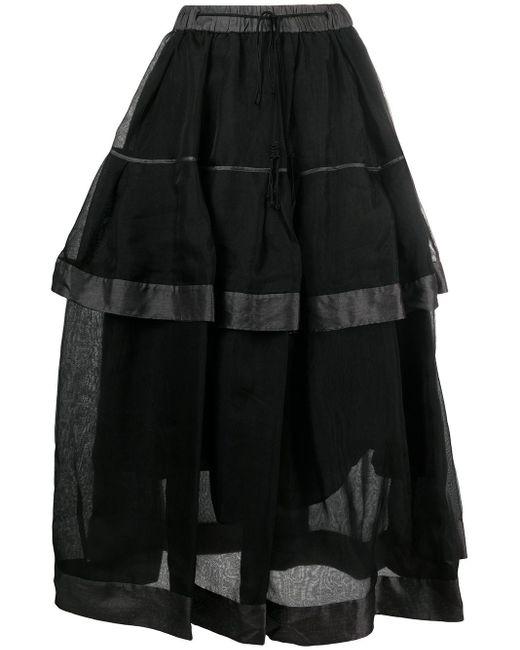 Renli Su レイヤード スカート Black