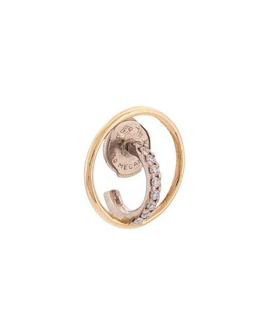 Charlotte Chesnais - Metallic 18kt Gold Saturn Xs Diamond Hoop Earring - Lyst