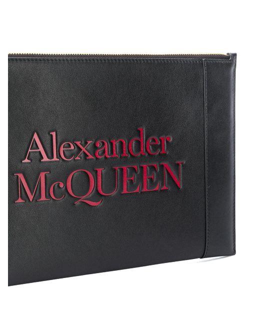 Клатч На Молнии С Логотипом Alexander McQueen, цвет: Black