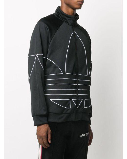 メンズ Adidas ロゴプリント ジャケット Black