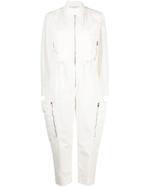 Tuta intera con zip di Stella McCartney in White