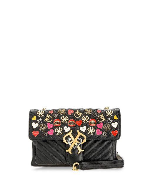 Стеганая Мини-сумка Через Плечо С Логотипом Double P Pinko, цвет: Black