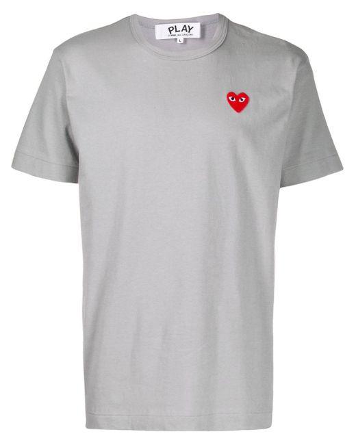 メンズ COMME DES GARÇONS PLAY ハート Tシャツ Gray