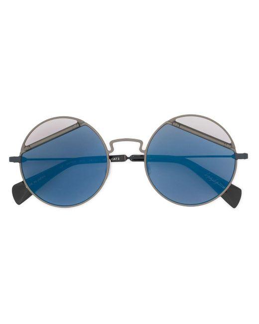 Yohji Yamamoto パネルレンズ サングラス Blue