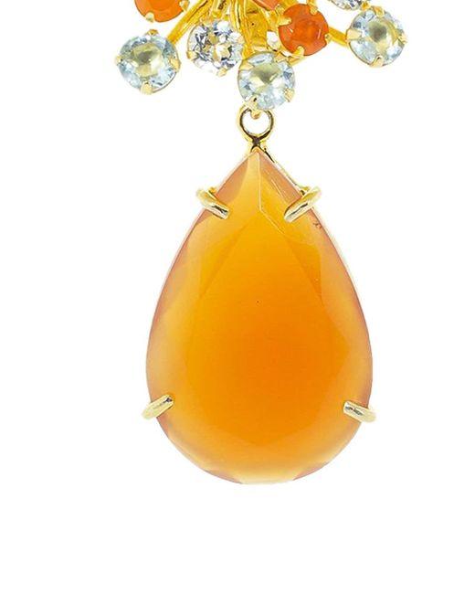 Серьги-клипсы Carnelian Pear Bounkit, цвет: Orange