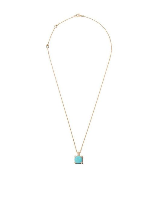 David Yurman - Multicolor 18kt Yellow Gold Châtelaine Turquoise And Diamond Pendant Necklace - Lyst